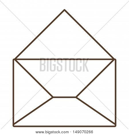 Envelope icon. Message email and letter theme. Isolated design. Vector illustration