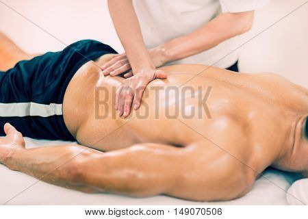 Sports Massage - Massaging Lower Back