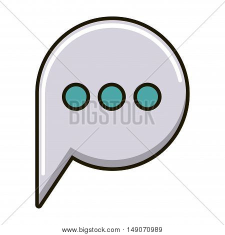 Bubble icon. Message speech and communication theme. Isolated design. Vector illustration