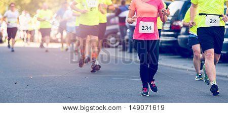 Marathon Running Street Race