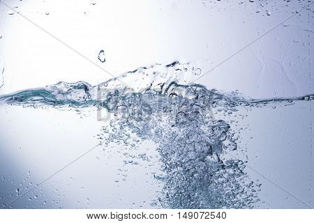 Clear Water On A Monochromatic Background, Abstraction