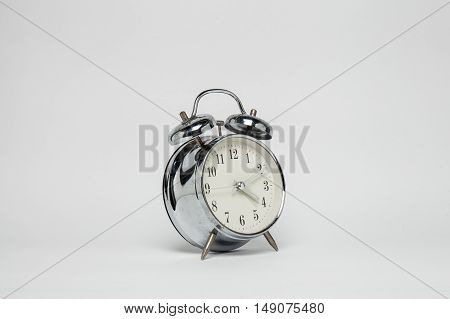 Alarm clock on white background on a white background
