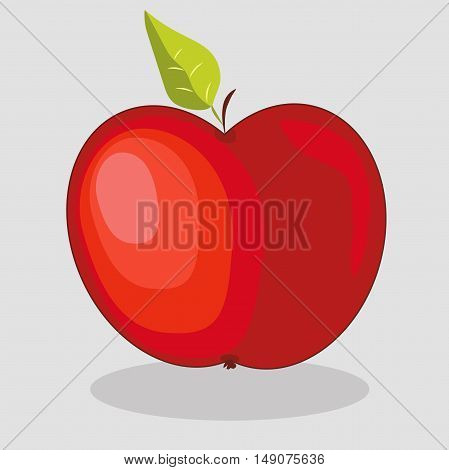 Very high quality original trendy  vector red apple illustration