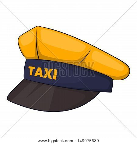 Cap taxi driver icon in cartoon style isolated on white background. Profession symbol vector illustration