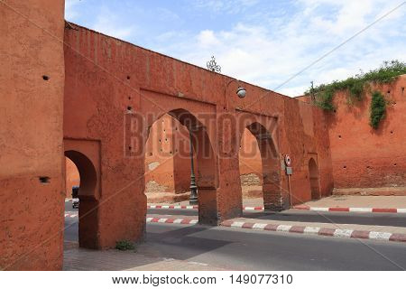 Old City Walls in Marrakesh Morocco, Africa