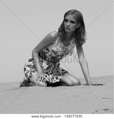 Sexy Girl In The Desert.