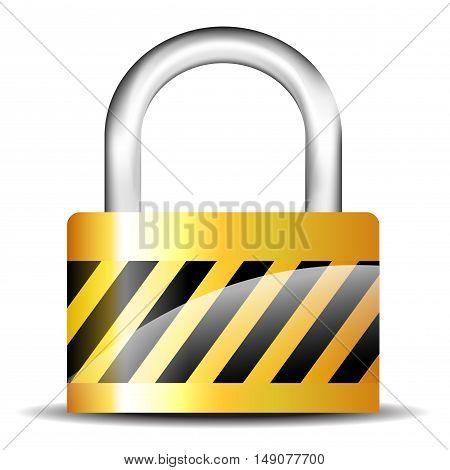 Illustration of padlock isolated on white background