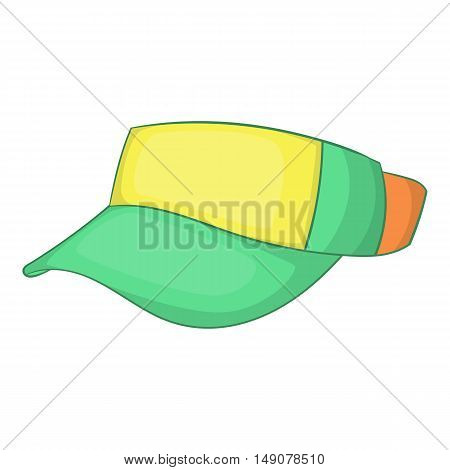 Cap without top icon in cartoon style isolated on white background. Summer and heat symbol vector illustration
