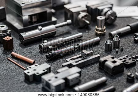 Industrial Spare Parts, horizontal image, color image, selective focus