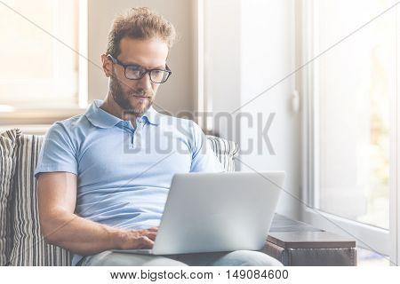 Handsome Businessman At Home