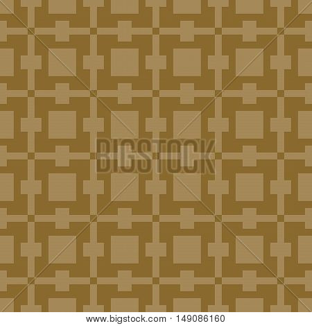 Geometric simple seamless stitching pattern in brown colors. Pixel art. Vector illustration