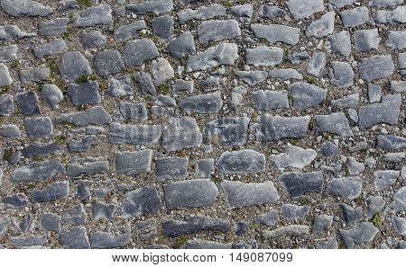 old paving road in ancient style. used as background