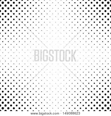 Abstract monochrome dot pattern background design - vector illustration