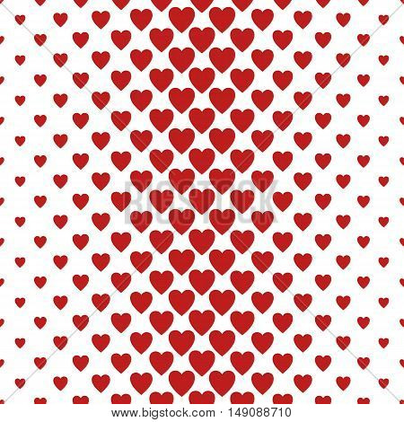 Red and white vertical heart pattern background design