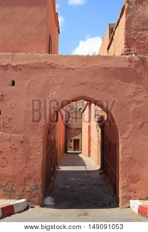 Old Gate in the city Marrakesh Morocco, Africa