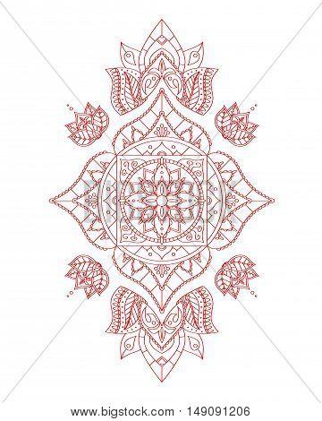 Manipur Root Chakra Mandala for Your Design. Vector illustration