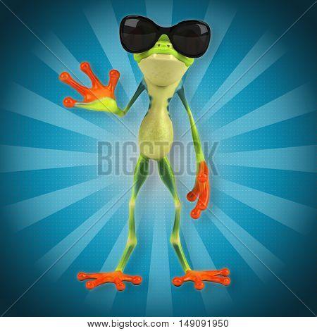 Green frog - 3D Illustration