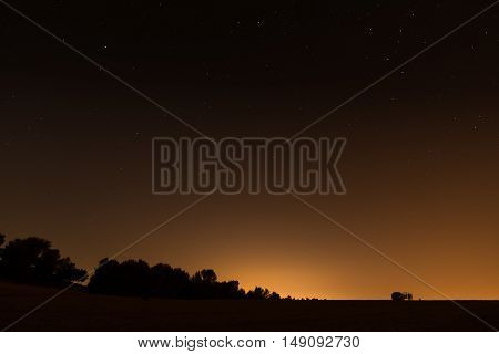 Night Sky Over The Israel Negev Desert