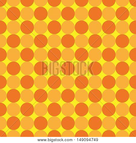 Polka dot geometric seamless pattern. Fashion graphic background design. Modern stylish abstract colorful texture. Template for prints textiles wrapping wallpaper website. VECTOR illustration