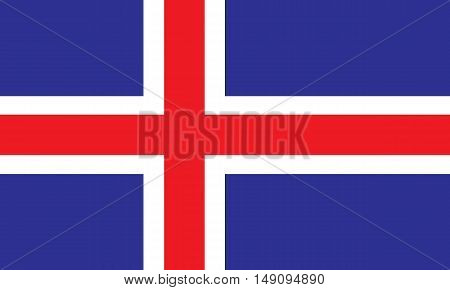 Iceland flag on a black background, stylish vector illustration
