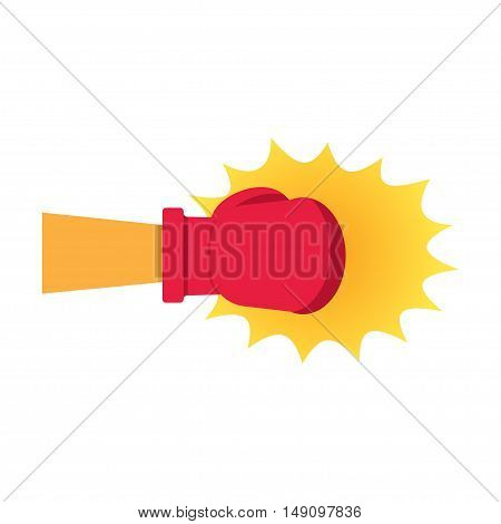 Boxing Gloves Hitting vector illustration on a white background