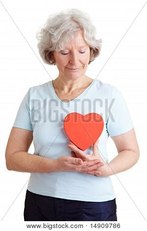 Elderly Woman With Healthy Heart
