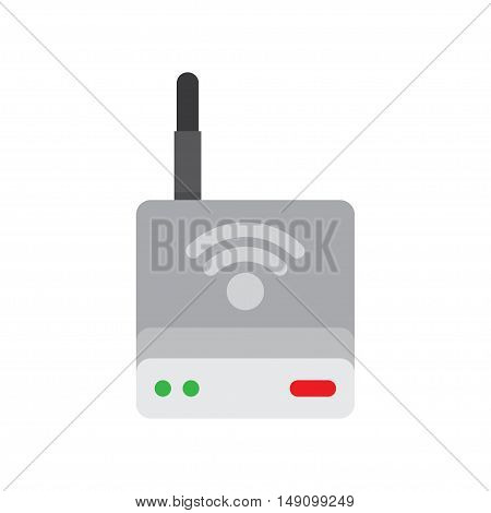 Wireless Router. Wi-Fi Router detailed vector illustration