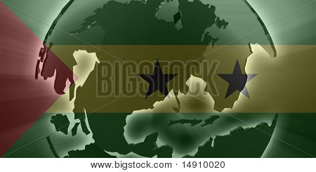 Flag of Sao Tome and Principe, national country symbol illustration