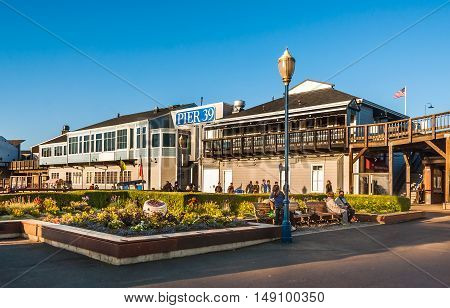 Famous pier 39 at the Fisherman's Wharf in San Francisco - USA