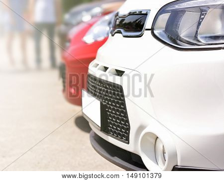 Parked cars for sale