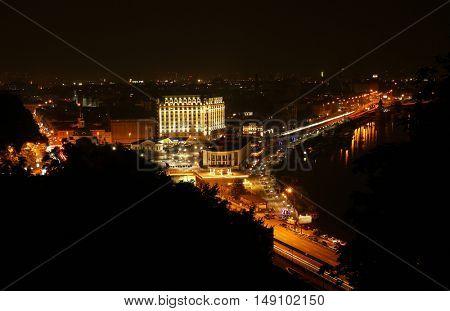 Beautiful cityscape at night