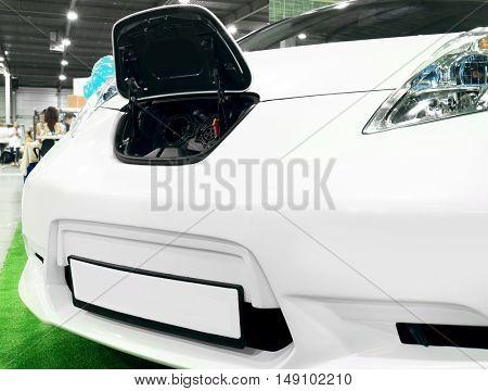 New car in the automobile salon
