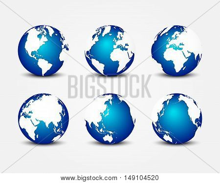 all side of blue planet ( around the world ) ( earth conservation concept )