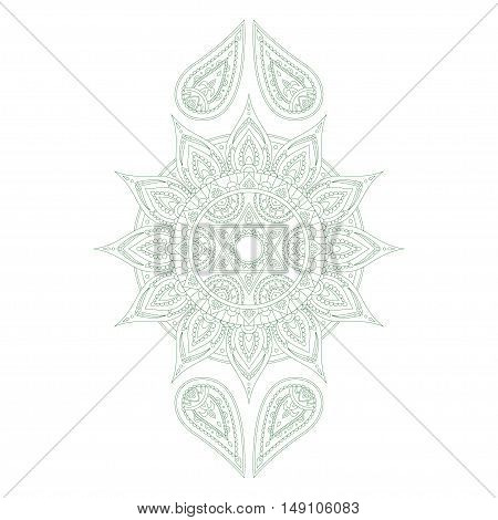 Chakra Anahata for Henna Tattoo and for Your Design. Vector illustration