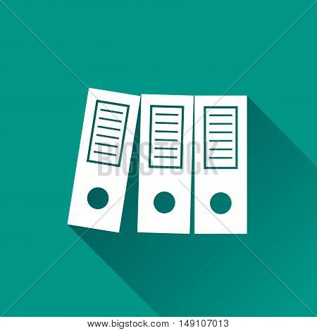 Illustration of binder design icon with shadow