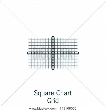 Vector Illustration Of Statistics Icon On Square Chart In Trendy Flat Style. Statistics Isolated Ico