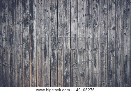Wooden Planks In Black Color