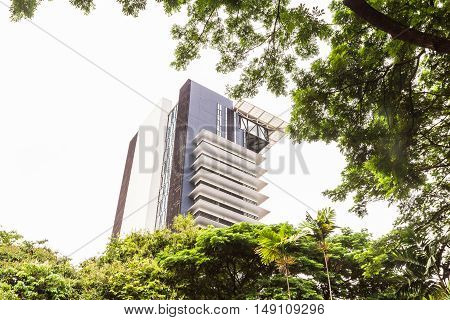 Bangkok Thailand - June 5 2016 : High-rise buildings in Chulalongkorn university