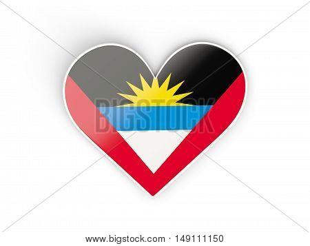 Flag Of Antigua And Barbuda, Heart Shaped Sticker