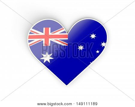 Flag Of Australia, Heart Shaped Sticker