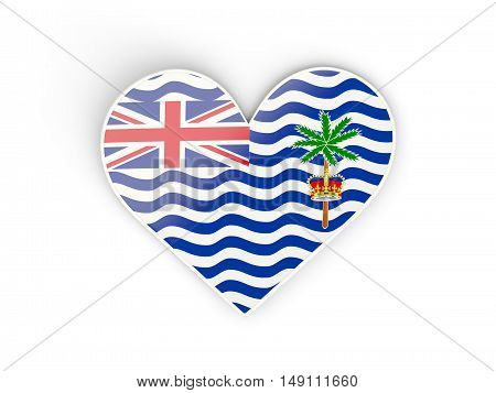 Flag Of British Indian Ocean Territory, Heart Shaped Sticker