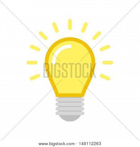 Vector Light Bulb Icon. Vector illustration in flat style.