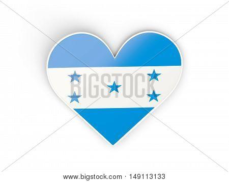 Flag Of Honduras, Heart Shaped Sticker