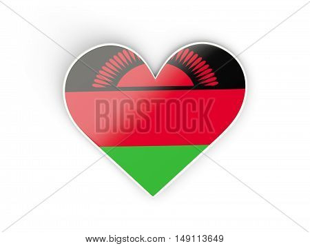 Flag Of Malawi, Heart Shaped Sticker