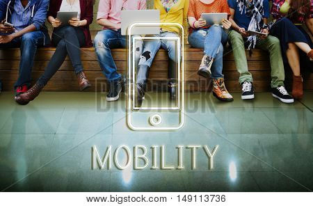 Communication Connected Mobility Graphic Concept