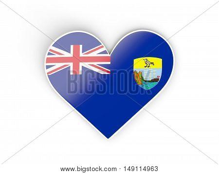 Flag Of Saint Helena, Heart Shaped Sticker