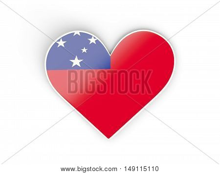 Flag Of Samoa, Heart Shaped Sticker