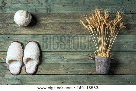 White Slippers