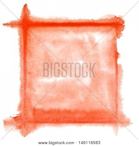 Red watercolor frame - space for your own text