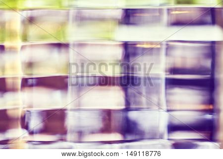 Blurred Photo Of Glass Block, Abstract Background